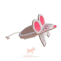 Мышь драпак когтеточка доска для котов Mouse Scratching Board (Карли-Фламинго) Karlie Flamingo