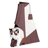 Домик драпак (дряпка) когтеточка для котов Tipi Scratching Board (Карли-Фламинго) Karlie Flamingo (60 x 80 см)