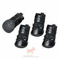 Ботинки для собак, комплект 4 шт, черный, Xtreme Boots (Карли-Фламинго) Karlie Flamingo (4,5 x 3,8 см)