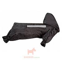 Одежда для собак, защитный комбинезон с капюшоном и светоотражающей вставкой Raincoat Safety (Карли-Фламинго) Karlie Flamingo (38 см)