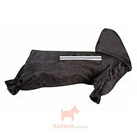 Одежда для собак, защитный комбинезон с капюшоном и светоотражающей вставкой Raincoat Safety (Карли-Фламинго) Karlie Flamingo (46 см)