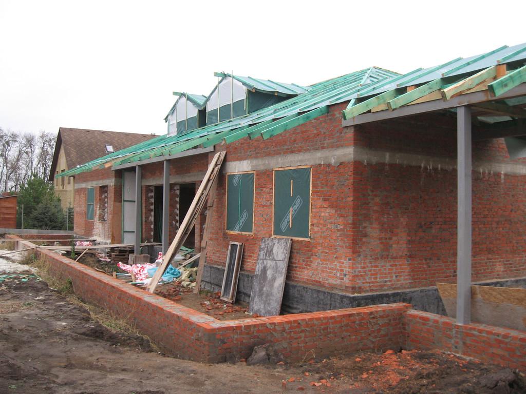 Дом до начала фасадных работ