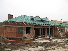 Облицовка травертином фасада частного дома 3