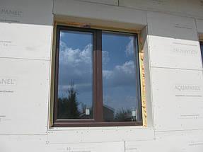 Облицовка травертином фасада частного дома 8