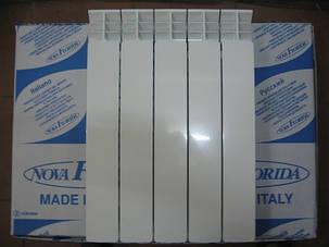 Радиатор алюминиевый отопления (батарея) 500x100 NovaFlorida Libeccio C2 (боковое подключение), фото 2