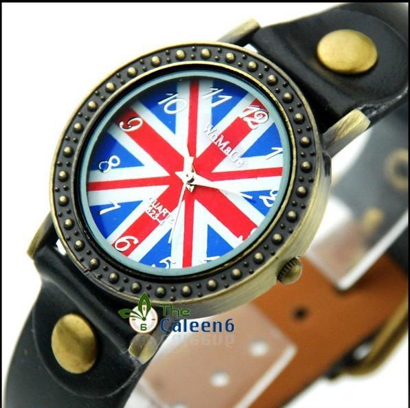 Часы женские наручные BRITISH FLAG black (черный)