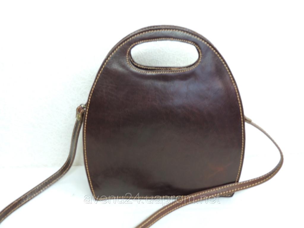 Молодежная женская сумка из натуральной кожи (Италия)