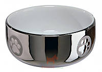 Миска керамическая для кота серебряно-белая 0,3 л 11 см Trixie
