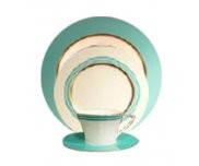 Сервиз столово-чайный на 6 персон 36 предметов костяной фарфор Chambery Blue Narumi
