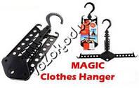 Многофункциональная складная вешалка органайзер трансформер Magic Clothes Hanger, фото 1