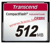 Карта памяти Transcend 512MB Industrial CF Card 220X (TS512MCF220I)