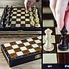Шахматы 2039(3153) туристические коричневые 27х13.5х4см (король-55мм)