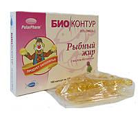 """Рыбный жир """"БиоКонтур"""" с маслом расторопши БАД 100 капсул"""