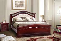 """Ліжко двоспальне дерев'яне """"Маргарита"""" 1.6 м Каштан (Мікс Меблі), фото 1"""