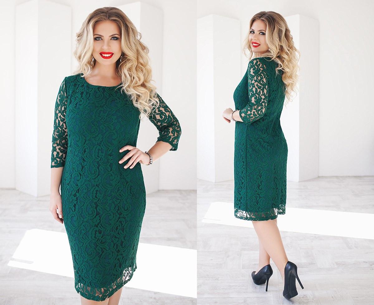 75c0e5aed29a Нарядное элегантное гипюровое платье размер 48-54 - Интернет-магазин