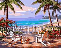 Картины раскраски по номерам 40 × 50 см. Пляж Анатолии худ. Сунг, Ким