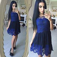 Женское кружевное платье