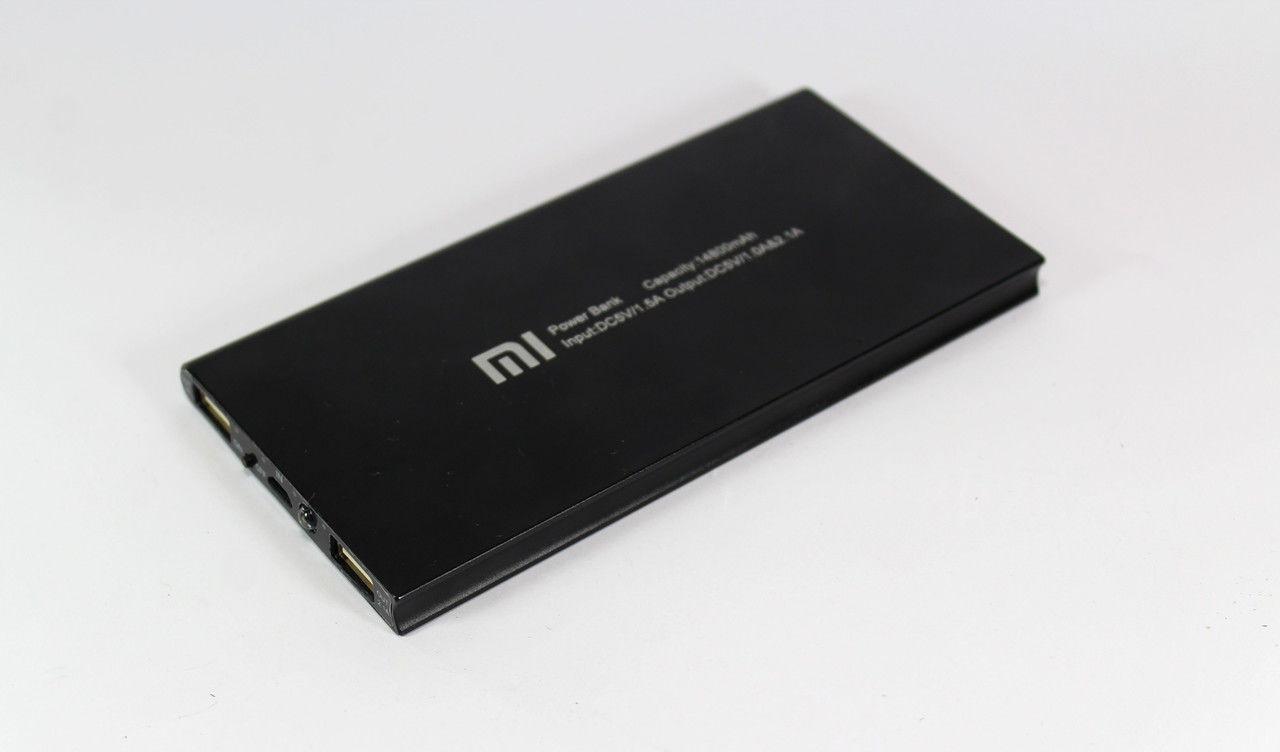 Ультратонкий Power Bank Xiaomi 14800 mAh 2 USB+фонарик Реплика