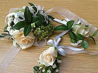 Браслет-цветок на руку для дружки