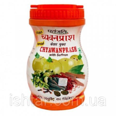 Чаванпраш с шафраном (Chyawanprash with Saffron, Patanjali) 500гр.