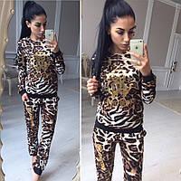 Женский костюм с леопардовой расцветкой