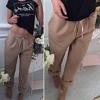 Женские однотонные штаны с резинкой на поясе (дайвинг)