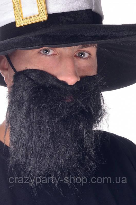 Борода черная карнавальная