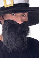Борода карнавальрная черная прямая