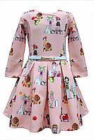 Яркое  нарядное платье  с пышной юбкой  для девочки.134р