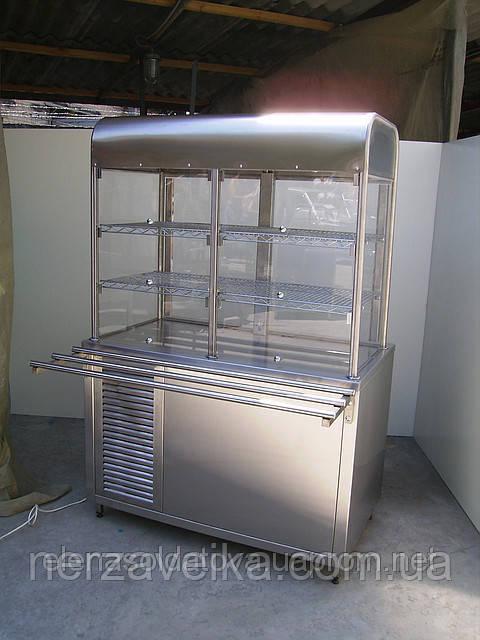 Холодильный стол с надстройкой