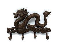 Вешалка настенная Дракон чугунное литье