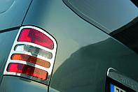 Накладки на фонари задние (2 шт, нерж) - Volkswagen T5 Caravelle (2004-2010)