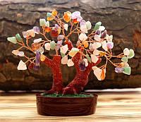 """Дерево счастья """"Микс камней"""" высота 11 см"""