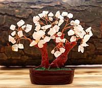 """Дерево счастья """"Розовый Кварц"""" высота 11 см"""