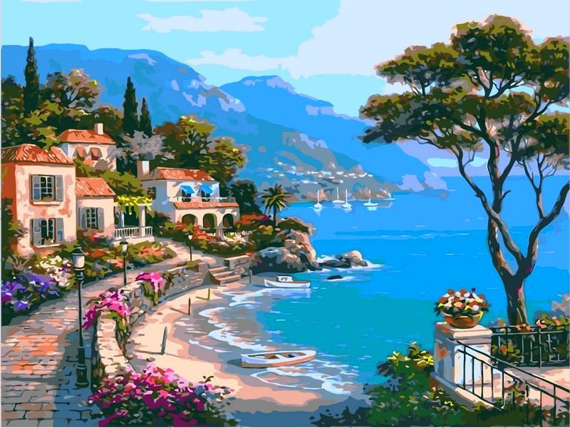 Картина по номерам 40×50 см. Райский уголок Художник Сунг Ким