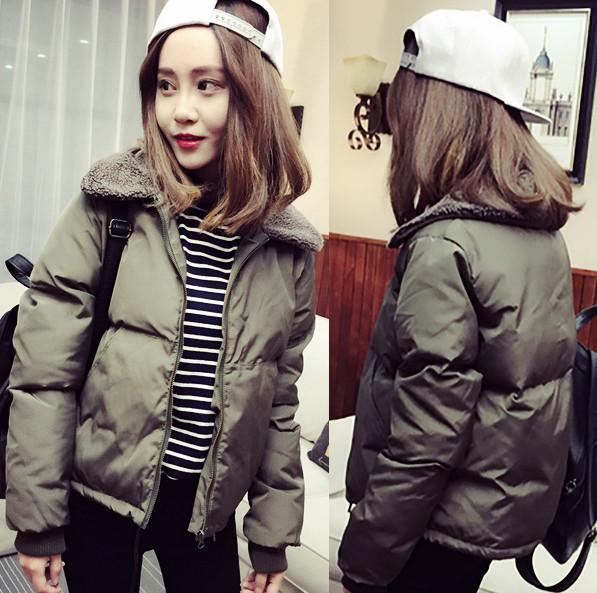 Женская стильная зимняя курточка с меховым воротником. Модель 907