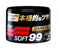 Твердый воск SOFT99 Dark and Black Wax для тёмных авто, 300 г.