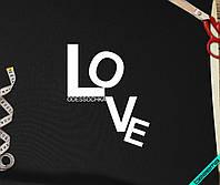 Аппликация, наклейка на ткань Love одессочка [7 размеров в ассортименте] (Тип материала Матовый)