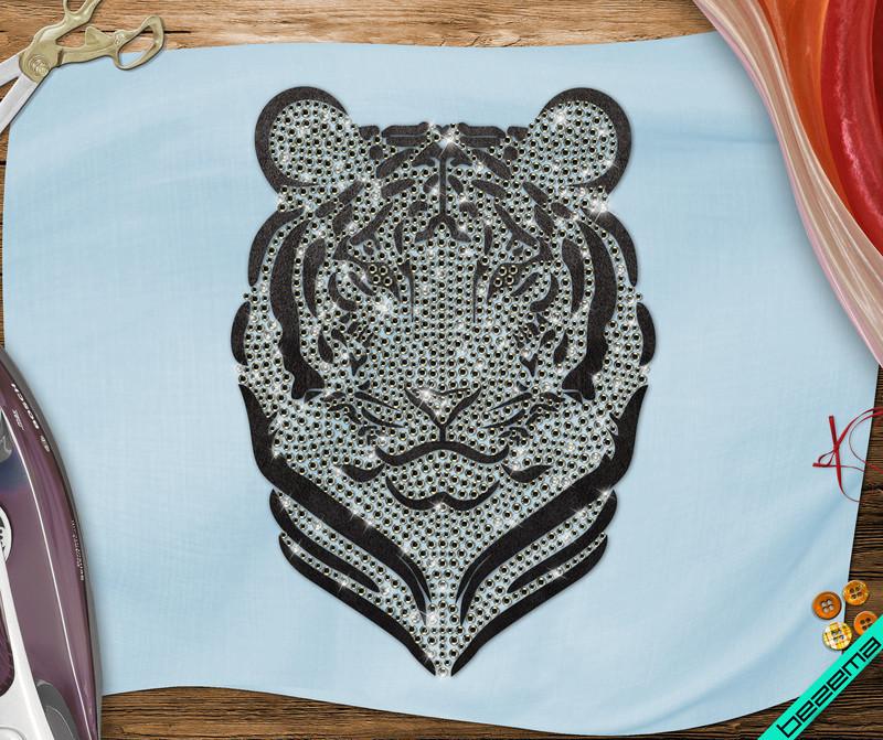 Термопринты на босоножки Тигр