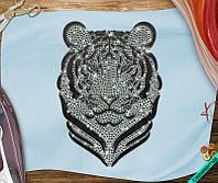 Наклейка комбинированная на ткань Тигр (3мм-бел., 4мм-черн.)