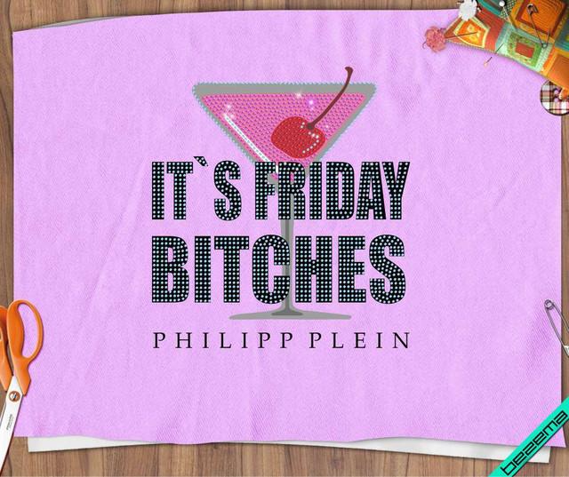 "Термопереводки на слипоны,сникерсы ""It's friday bitches"" Philipp Логотип"
