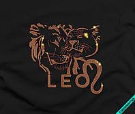 Наклейка комбинированная на ткань Пара львов (3мм-бел., 3мм-черн., Флок)