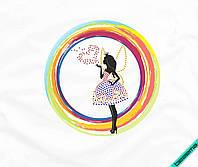 Наклейка комбинированная на ткань Принцесса Фея (2мм-красн. 3мм-син. желт.)
