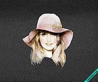 Наклейки на платья Девушка в шляпе