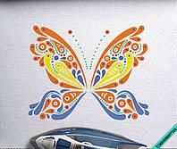 Аппликация, наклейка на ткань Бабочка [7 размеров в ассортименте]