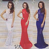 Вечернее платье из гипюра с подкладкой 5 цветов