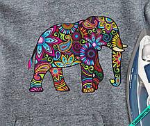 Термоперевод для бизнеса на береты Слон в цветах [7 размеров в ассортименте]