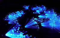 Гирлянда-LED новогодняя Штора-волна с кисточками на 100 лампочек 1,5 м Синяя