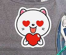 Декор на кошельки Котик с сердцем [7 размеров в ассортименте]