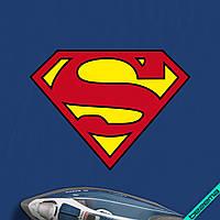 Аппликация, наклейка на ткань Superman [7 размеров в ассортименте]